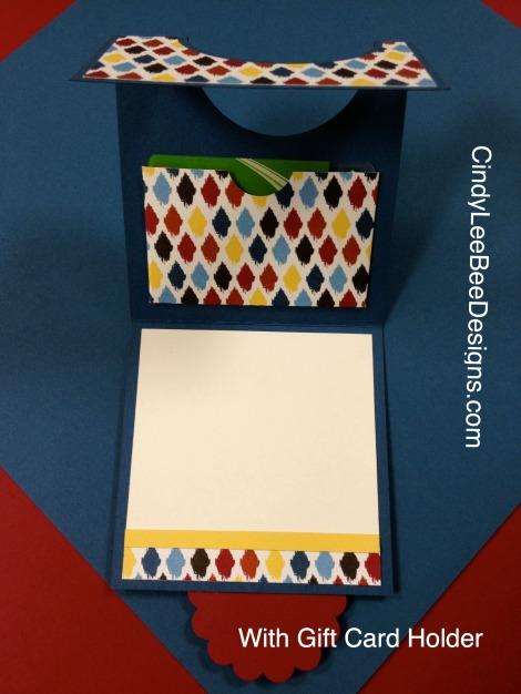 SU Blue Ribbon Grad with Gift Card Holder