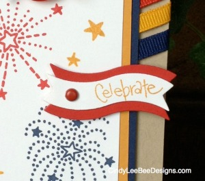 Fourth of July wine Topper Celebrate Close up