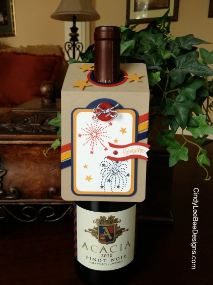 Fourth of July Wine Topper