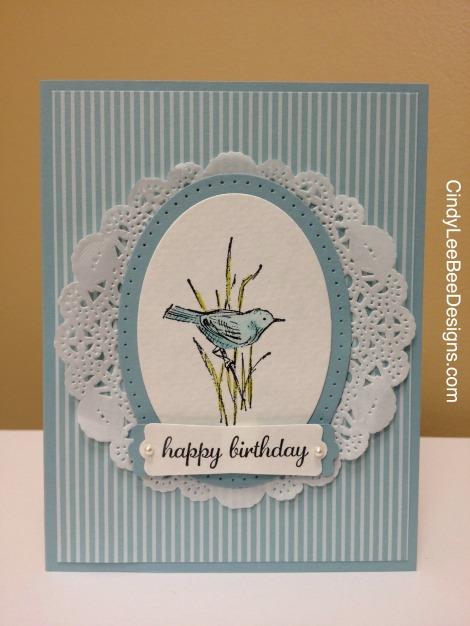 SU Simply Sketched Blue Bird Birthday