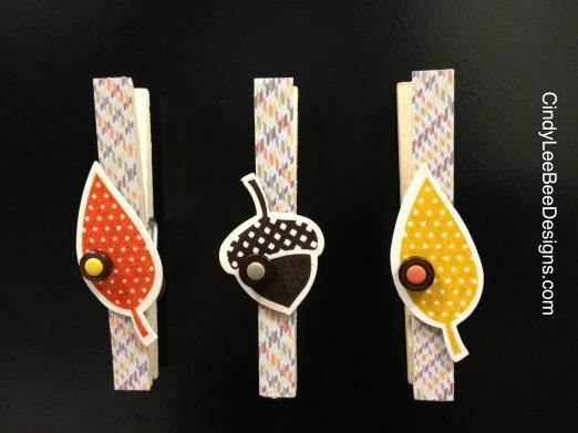 SU Autumn Bigz Clothespins