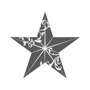 Christmas Star Single Stamp