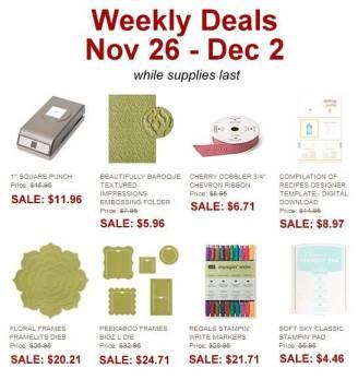 weekly deals !