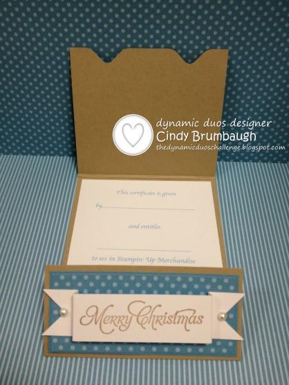 SU Festive Flurry Gift Card Open DD
