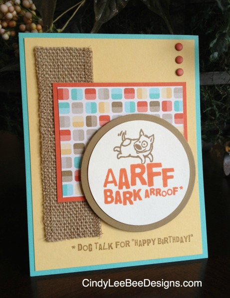 SU Animal Talk Retro Burlap