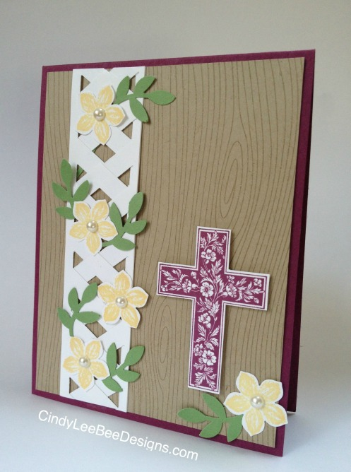 SU Crosses of Hope Chevron PUnch Woodgrain