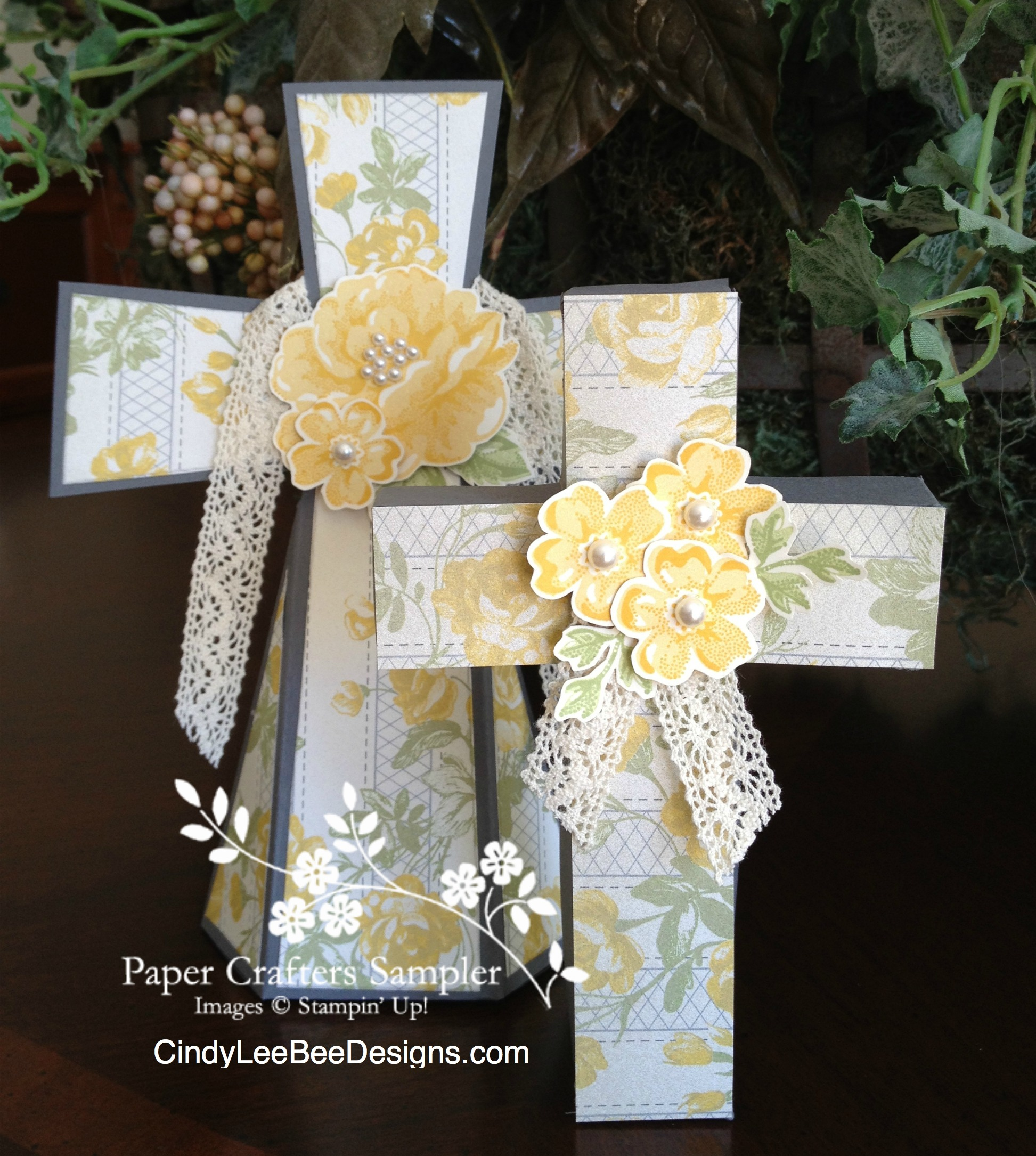 Paper Crafters Sampler Easter Cross Templates Cindy Lee Bee Designs
