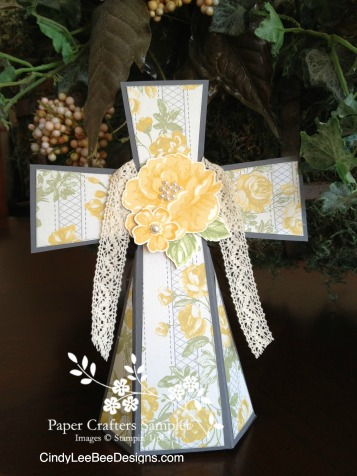 SU Stippled Blossoms Standing Cross CLBD