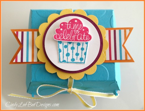 SU Cupcake Party Hamburger Box Die Sweet Taffy Paper