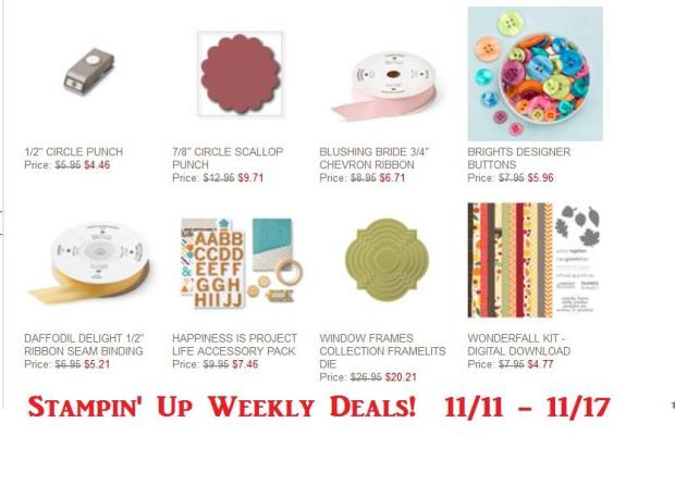 weekly deals until nov 17