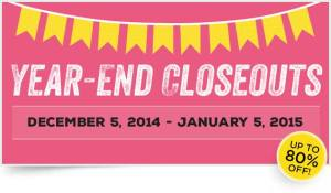 year End Close outs