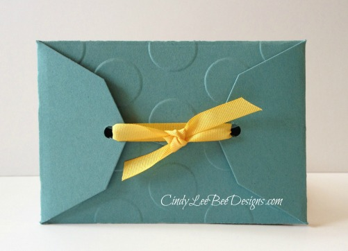 SU Petal Potpourri Gift Card Back with Ribbon