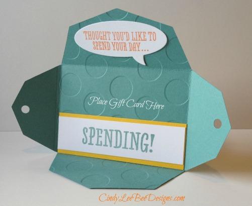 SU Petal Potpourri Gift Card Holder Inside