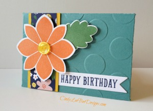 SU Petal Potpourri Gift Card Holder Slanted