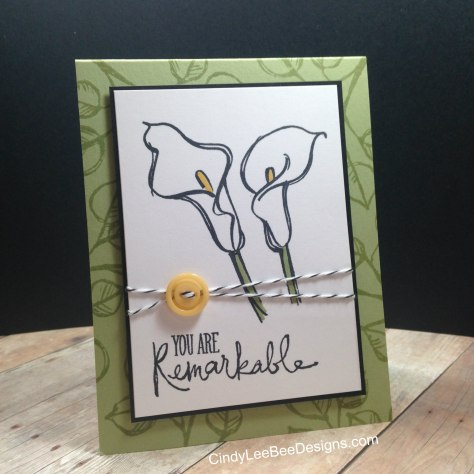 SU Remarkable You  Calla Lily Yellow button