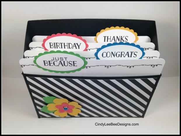 SU Tin of Cards Pansy BOX