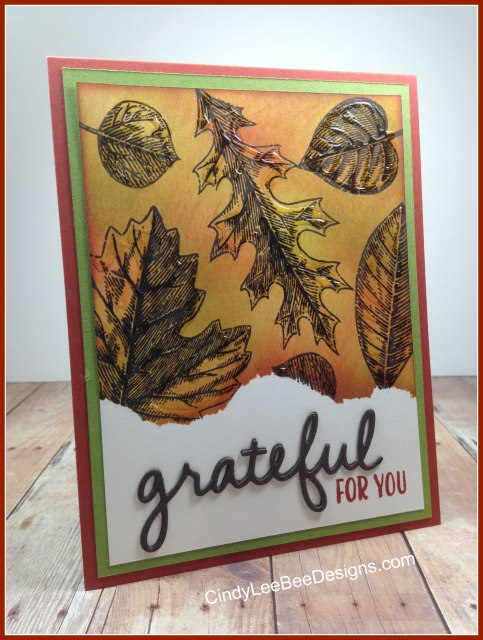 SU Vintage Leaves with Grateful