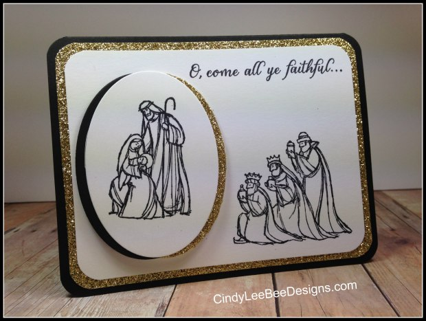 SU All Ye Faithful Bigger oval framed