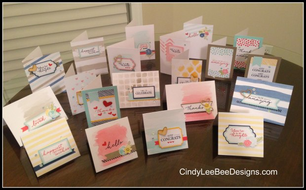 Watercolor Wishes 1 all cards