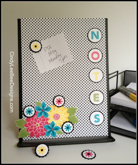 SU Flower Frenzy Magnetic Note Holder