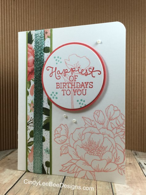 SU Birthday Blooms wglitter tape