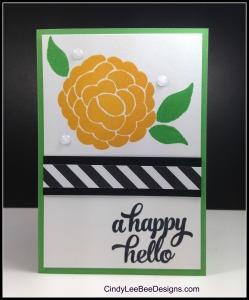 SU Bountiful Border Tin of Cards Cucumber Hello Notecard