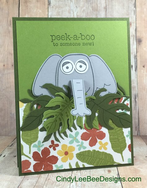 SU Playful Pals with Botanical Blooms Elephant