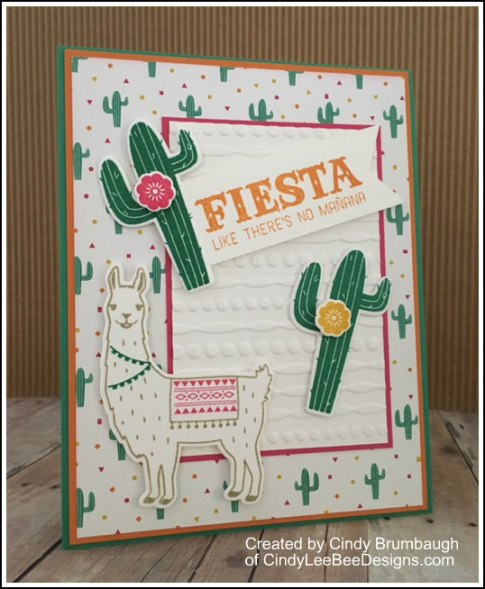 SU Birthday Fiesta cactus card