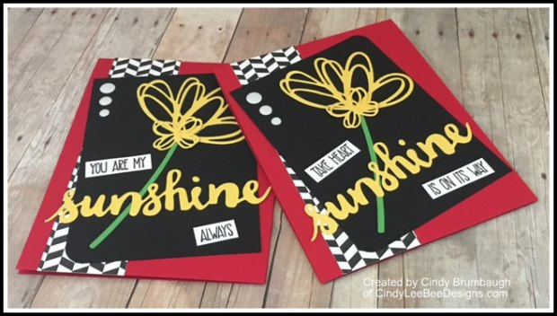 SU Sunshine Wishes black red yellow on wood