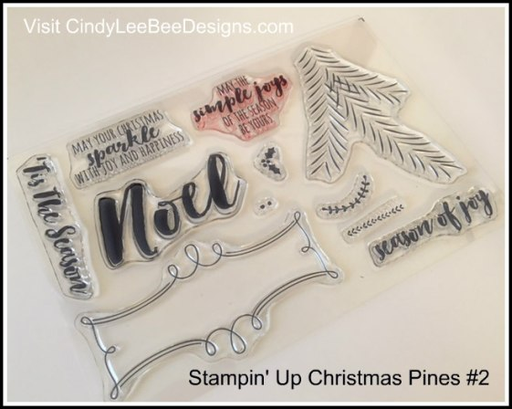 SU Christmas Pines stamps #2