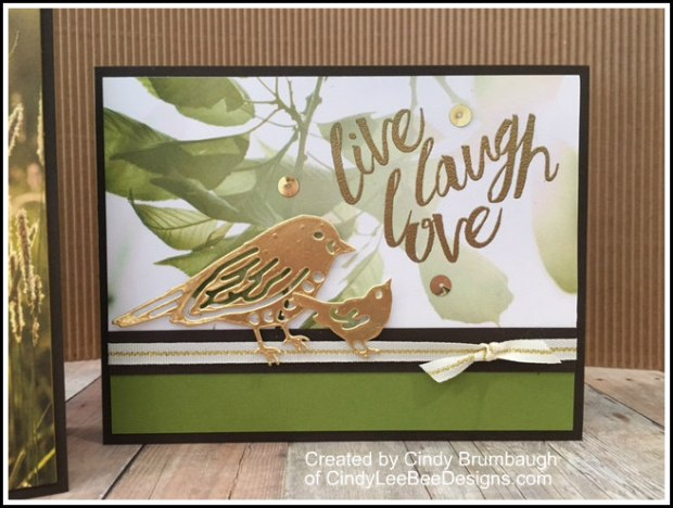 SU Layering Love with Birds and Blooms thinlits olive