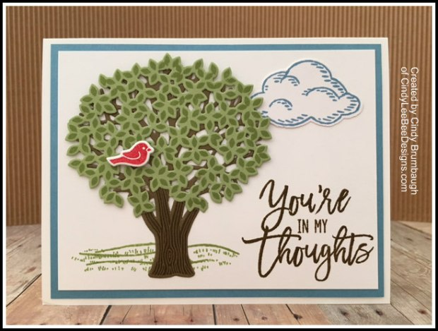SU Thoughtful Branches With Red Bird