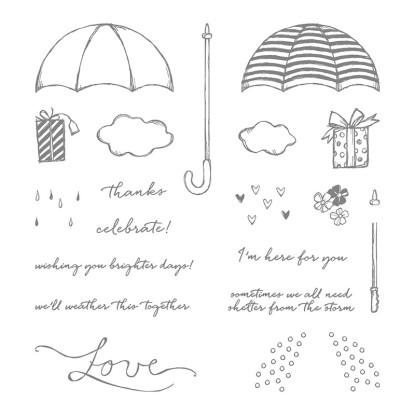 umbrella stamp set