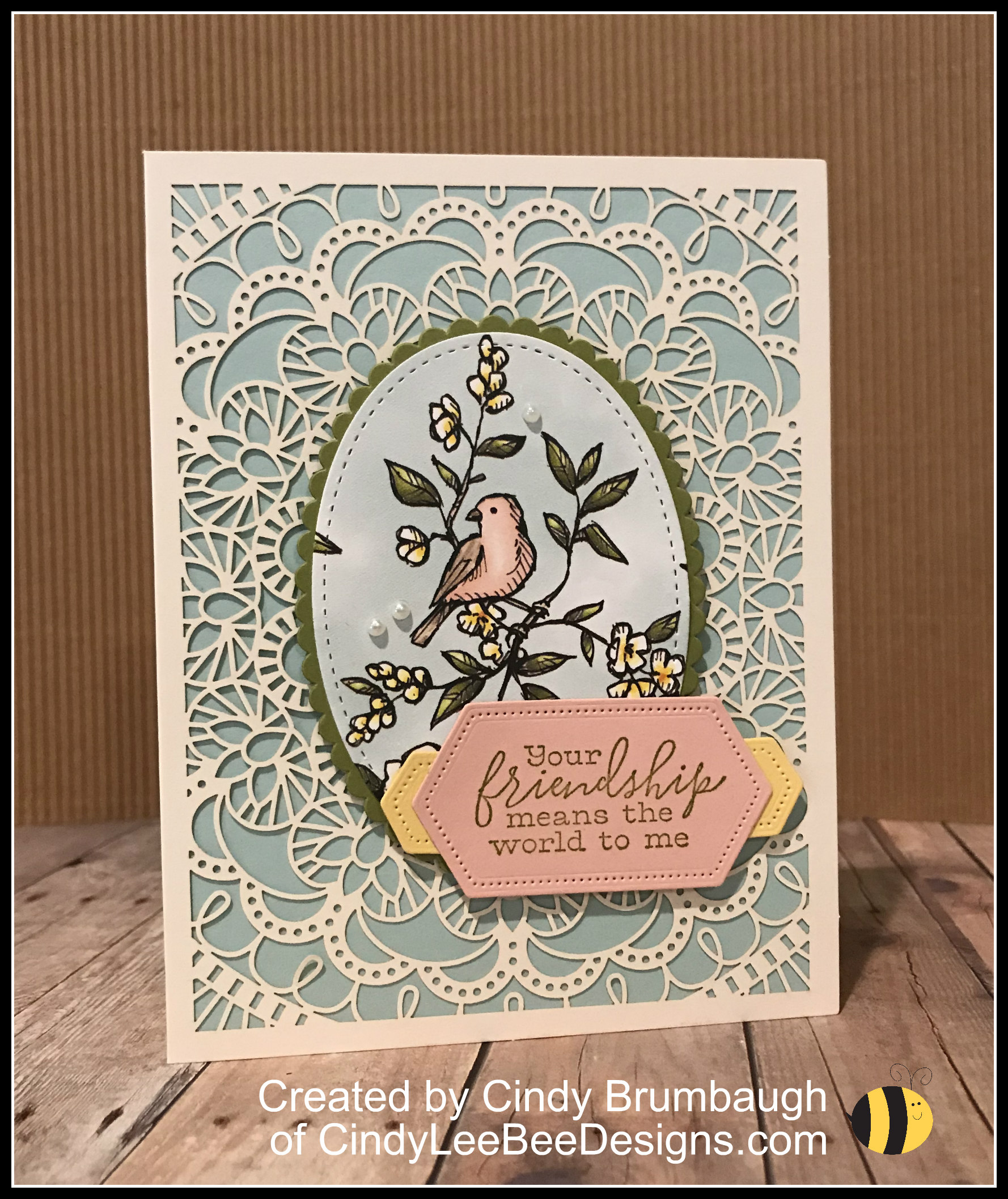 Stampin Up Bird Ballad Laser Cut Cards And Tin Cindy